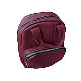 Рюкзак сумка женский городской бордовый 098G, фото 5
