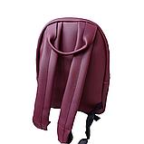 Рюкзак сумка женский городской бордовый 098G, фото 4