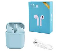 Бездротові сенсорні навушники TWS i13S ProStar Bluetooth V5.0, блакитні