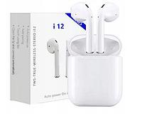 Бездротові навушники TWS i12 5.0 Bluetooth сенсорні з магнітним кейсом, білі