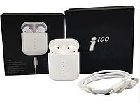 Сенсорні Bluetooth навушники i100 TWS бездротова гарнітура, білі