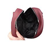 Рюкзак сумка женский городской бордовый 098G, фото 2