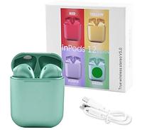 Бездротові сенсорні навушники inPods i12 TWS Bluetooth 5.0 Metallic Green