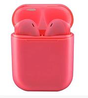 Бездротові bluetooth навушники V99 Touch з кейсом Red