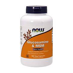 Глюкозамин МСМ Now Foods Glucosamine & MSM (180 капс) нау фудс