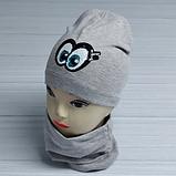 М 4536. Комплект для дівчаток шапка одинарна і баф Vivatricko, 3-8 років, різні кольори, фото 2