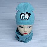 М 4536. Комплект для дівчаток шапка одинарна і баф Vivatricko, 3-8 років, різні кольори, фото 3