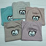 М 4536. Комплект для дівчаток шапка одинарна і баф Vivatricko, 3-8 років, різні кольори, фото 5
