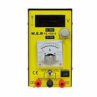 Блок живлення WEP PS-1501S компактний, 15V цифрова індикація, 1A стрілкова індикація, RF-індикатор, тестер