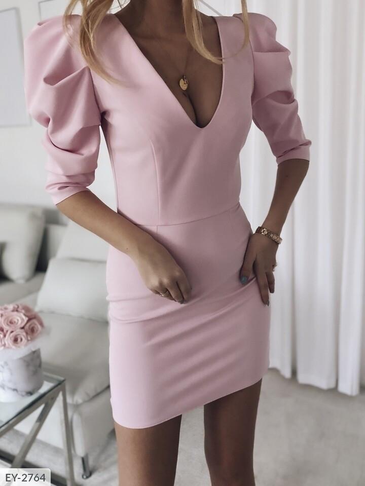 Облягаюче плаття з широкими рукавами