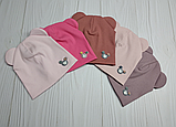 М 4522.Шапка трикотажна для дівчинки Vivatricko, 3-8 років, різні кольори, фото 5