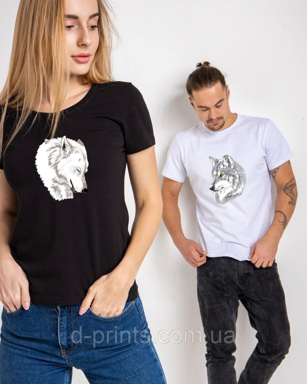 """Парные футболки """"Волк и волчица"""""""