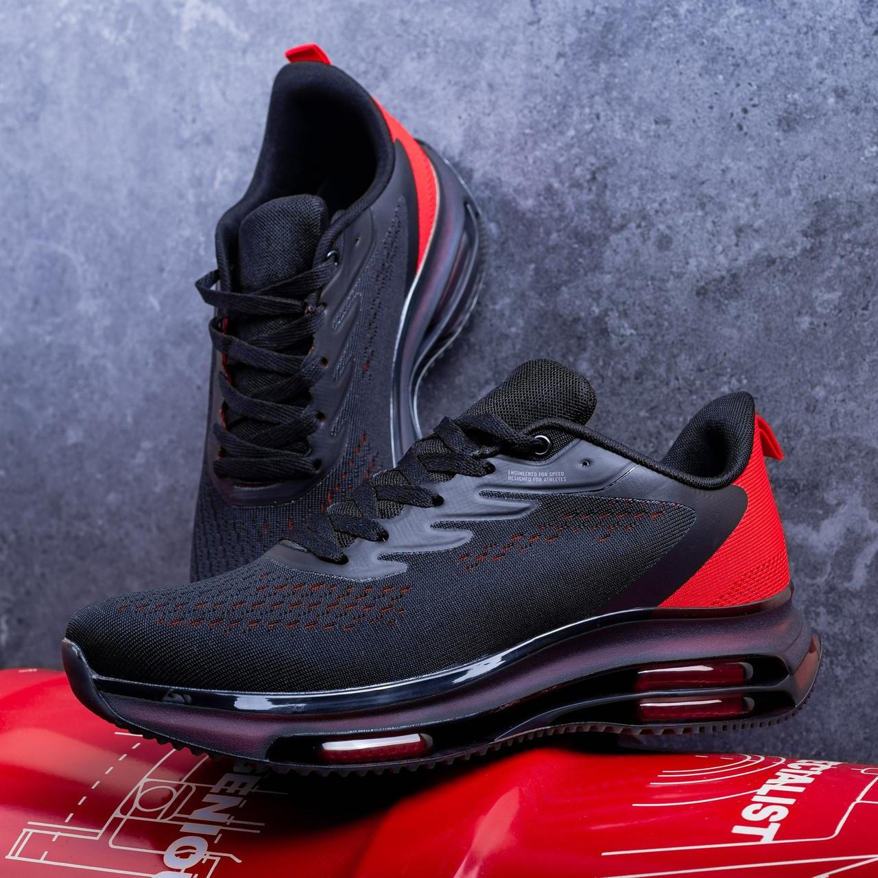 Кроссовки мужские Дифено-рейдж черные с красным 43,44,46