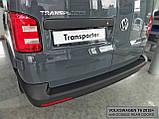 Пластиковая накладка заднего бампера для Volkswagen T6 2015+ (с 2-мя задними дверьми), фото 2