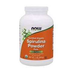Спирулина Now Foods Organic Spirulina Powder (454 г) нау фудс