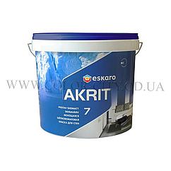 Моющаяся краска для стен и потолка Eskaro Akrit 7 4,75л (Эскаро Акрит 7)