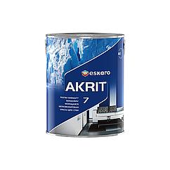 Моющаяся краска для стен и потолка Eskaro Akrit 7 TR 2.7л (транспарентная)