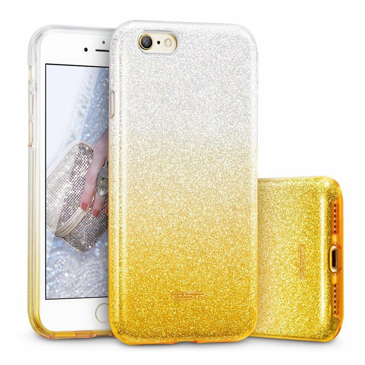Чехол силиконовый TPU (iPhone SE 2020 / 8 / 7) SKY-ESR (X000Q9UHQ5) Silver/Gold