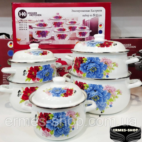 Набор эмалированной посуды Higher Kitchen НК-309