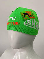 Детская вязаная шапочка Inside 2604 зеленый