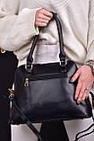 Женская сумка черная с брелком код 7-999, фото 2