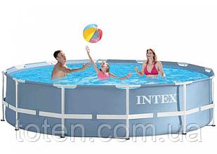 Каркасний басейн Intex 26710 розмір 366 x 76 см сірий, 6503 л