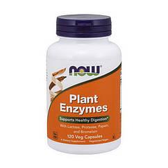 Ферменты энзимы Now Foods Plant Enzymes (120 капс) нау фудс