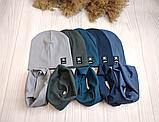 """М 93500. Комплект весена-осінь шапка + хомут для хлопчиків """"G"""" 2-8 років, різні кольори, фото 5"""