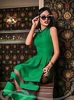 Платье Габардин Зеленое S M L