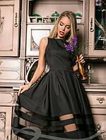 Платье Габардин Черное S M L