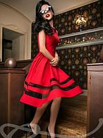 Платье Габардин Красное S M L