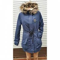 Куртка парка женская  Оксана серая, стильные куртки