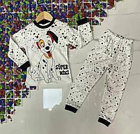 """Піжама дитяча для хлопчика """"SUPER MINI"""" 4-6 років,колір-біла з чорним"""