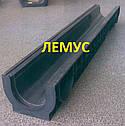 Комплект: пластиковий Лоток водовідвідний H120 з чавунною решіткою, фото 5