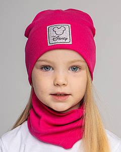 Комплект (шапка хомут) для дівчинки на весну-осінь оптом - Артикул 2819(2789)
