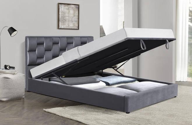 Кровать ANNABEL Halmar 160*200 Серый, фото 2