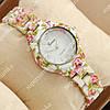 Кварцевые наручные часы Geneva Platinum White-flower/White 1070