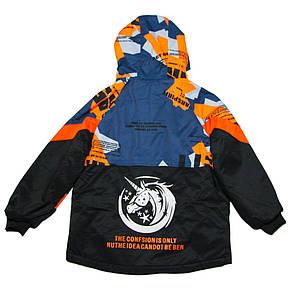 """Куртка двостороння для хлопчика 134-140 зросту """"Єдиноріг"""" сіра, фото 2"""