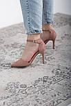 Туфли женские Fashion Ulian 2633 38 размер 24,5 см Розовый, фото 2