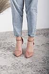 Туфли женские Fashion Ulian 2633 38 размер 24,5 см Розовый, фото 4