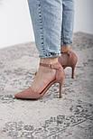 Туфли женские Fashion Ulian 2633 38 размер 24,5 см Розовый, фото 5