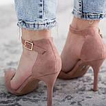 Туфли женские Fashion Ulian 2633 38 размер 24,5 см Розовый, фото 6
