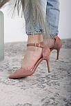Туфли женские Fashion Ulian 2633 38 размер 24,5 см Розовый, фото 7