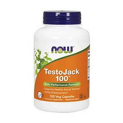 Бустер тестостерона Now Foods TestoJack 100 (120 капс) нау фудс