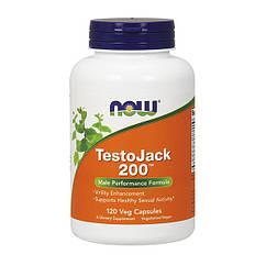 Бустер тестостерона Now Foods Testo Jack 200 Extra Strenght (120 капс) нау фудс