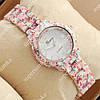 Стильные наручные часы Geneva Platinum White-butterfly/White 1071