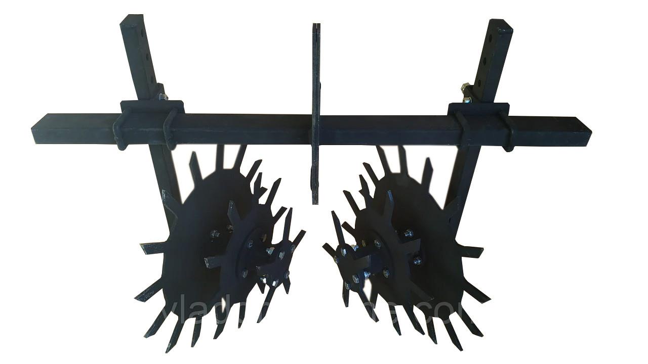 Культиватор Їжачок на підшипниках Буковинка на подвійний зчепленні (розбірний цельнорезаный)
