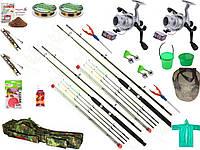 Рыболовный фидерный набор Crocodile, Набор рыболовных снастей, подарок мужчине, Готовые наборы для рыбалки!