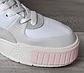 Жіночі кросівки Puma Cali Sport Mix Wn's (білі з бежевим) взуття демісезонне замшева К12154, фото 5