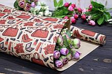 """Односторонняя крафт бумага для цветов и подарков """"Письмо""""70см*10м"""